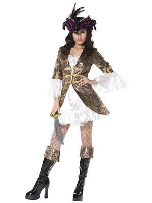 Sexy Lady Pirate, Swashbuckler, Hot Pirate Mini Dress Deluxe Costume by Smiffys - Hot Pirate Costumes