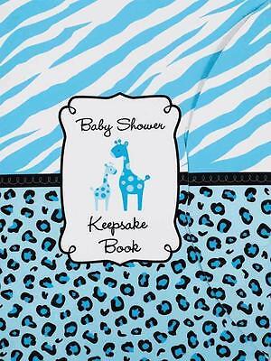 Baby Shower Keepsake Book Safari Giraffe boy Blue by Amscan (Safari Blue Baby Shower)