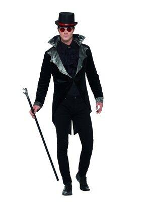 Smi - Herren Kostüm Gothic Vampir Graf Jacke Halloween (Männliche Vampir Kostüm)