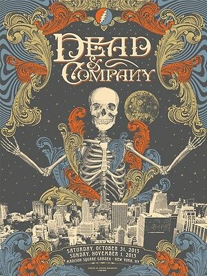 Dead & Company Poster MSG NYC Halloween Signed & Numbered #/50 Artist - Dmb Halloween