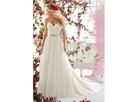 Mori Lee Wedding Dress 6812 Never worn, never altered! Size 12