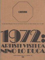 Lo Duca Nino, 1972: Artisti Visti Da Nino Lo Duca -  - ebay.it
