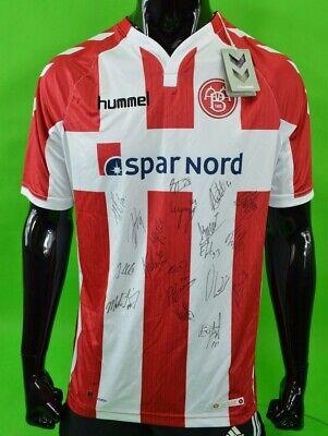 2017-18 Hummel Aalborg BK Boldspilklub Home Football Shirt TEAM SIGNED SIZE L  image