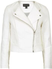 Topshop brand new leather look jacket size 12