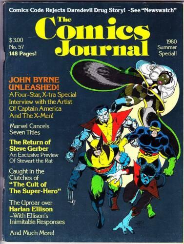 COMICS JOURNAL #57 - 1980 - Harlan Ellison letters, 25 page John Byrne interview