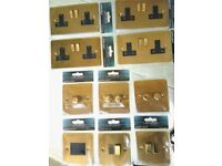 Job lot of Mains Electrical Sockets and Switches etc - Varilight Ultraflat