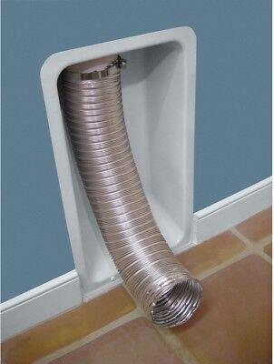 11.75x20.125 Aluminum Dryer Vent Box Wall Recessed Flexible