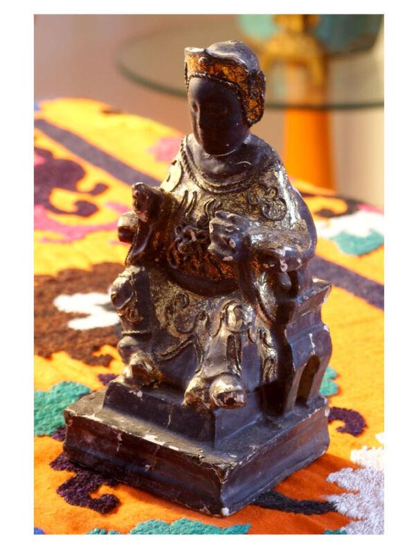 Black Chinese Emperor Temple Figure