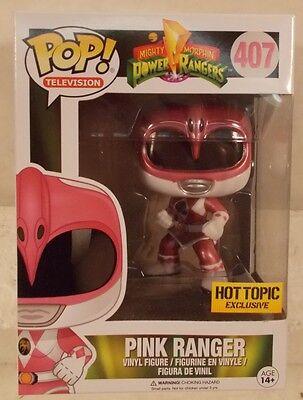 Funko Hot Topic Exclusive #407 MMPR Power Rangers Pink Ranger Pop Vinyl (MIB)](Hot Pink Power Ranger)