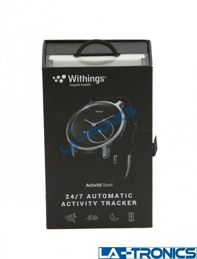 New Withings Activité Steel 24/7 Automatic Activity Tracking Black - HWA01