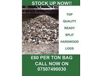 Top Quality Ready Split Hardwood Logs