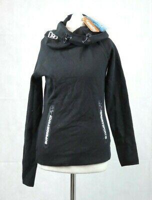 Superdry Gym Tech Cowl Black Hoodie Size XXS 6 uk rrp £54.99 CR097 DD 12