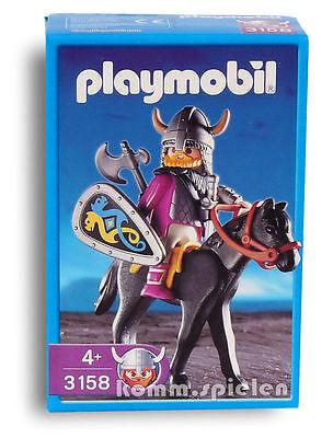 Playmobil® 3158 Wikingeranführer mit Pferd - Wikinger - MISB NEU/OVP