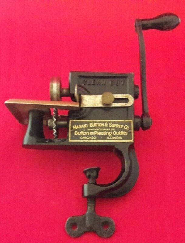 Vintage Maxant Button and Supply Co. Pinking Machine