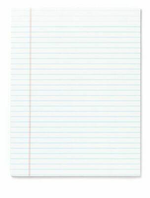 Office Depot Legal-ruled White Glue-top Writing Pads Letter Size 12-pack