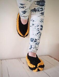 pantoufles de tricot unisexe