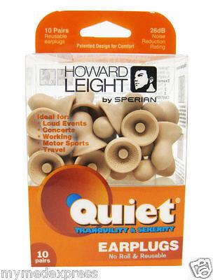 Howard Leight Quiet Earplugs 10 pairs 033552016830