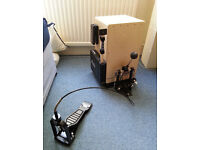 cajon microphone and cajon pedal with base plate (Schlagwerk)