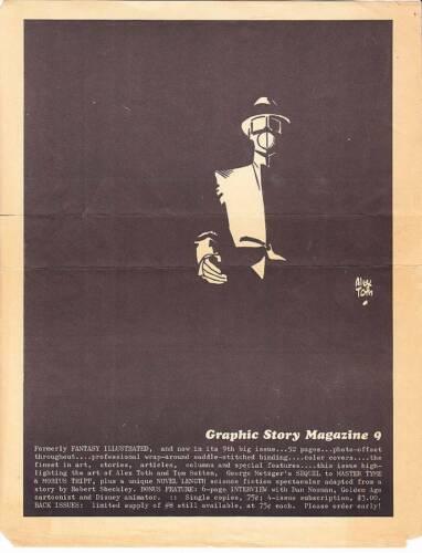 Vintage advertisement for GRAPHIC STORE MAGAZINE #9 comics fanzine - Alex Toth