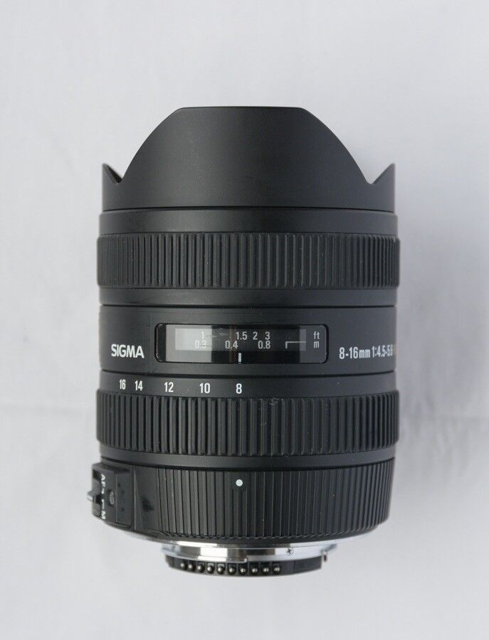 Sigma 8-16mm f4.5-5.6 DC Lens for Nikon – excellent condition