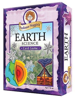 PROFESSOR NOGGIN'S EARTH SCIENCE FUN EDUCATIONAL FAMILY TRIVIA CARD GAME OUTSET Earth Science Card Game
