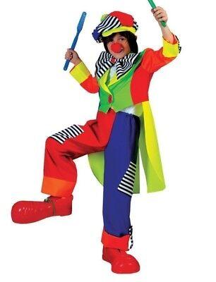Spanky Stripes Clown Child Costume Funny Fashion Color Comical Halloween - Spanky Stripes Clown Kostüm