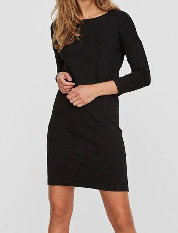 Kleid VERO MODA strick schwarz kurz Gr S M L XL