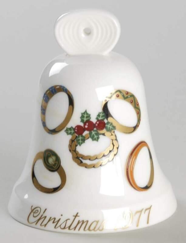 Noritake CHRISTMAS BELL 1977 5 Gold Rings 74692