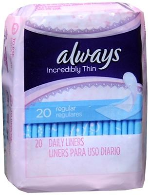 Thin Pantiliners - Always Thin Pantiliners Regular Unscented 20 Each
