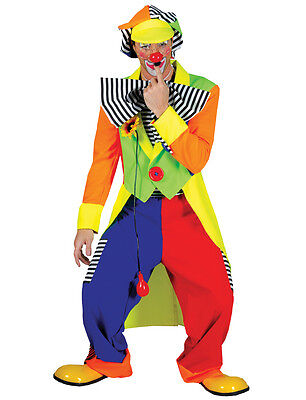Spanky Stripes Clown Adult Mens Costume Funny Comical Theme Party Halloween