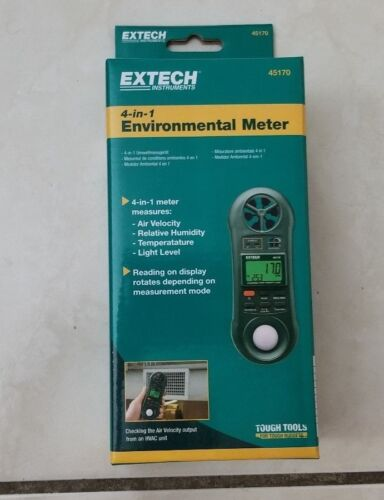 Extech 45170 Four in One Environmental Meter (Hygro-Thermo-Anemometer-Light) new