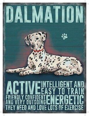 mation Dog Saying Sign Hanging Decoration 6.5x9cm (Mini Dalmation)