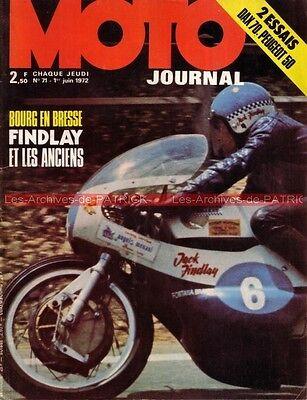Moto journal   71 honda st 70 dax ; peugeot tsr 50 ; trike cb 750 andy lee 1972