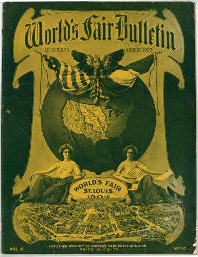 VINTAGE, ANTIQUE AUGUST 1903 ST.LOUIS WORLD
