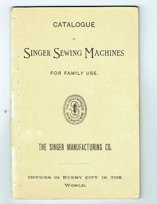 Singer Sewing Machine 1893 Catalog - Columbian Exposition Version - OK condition