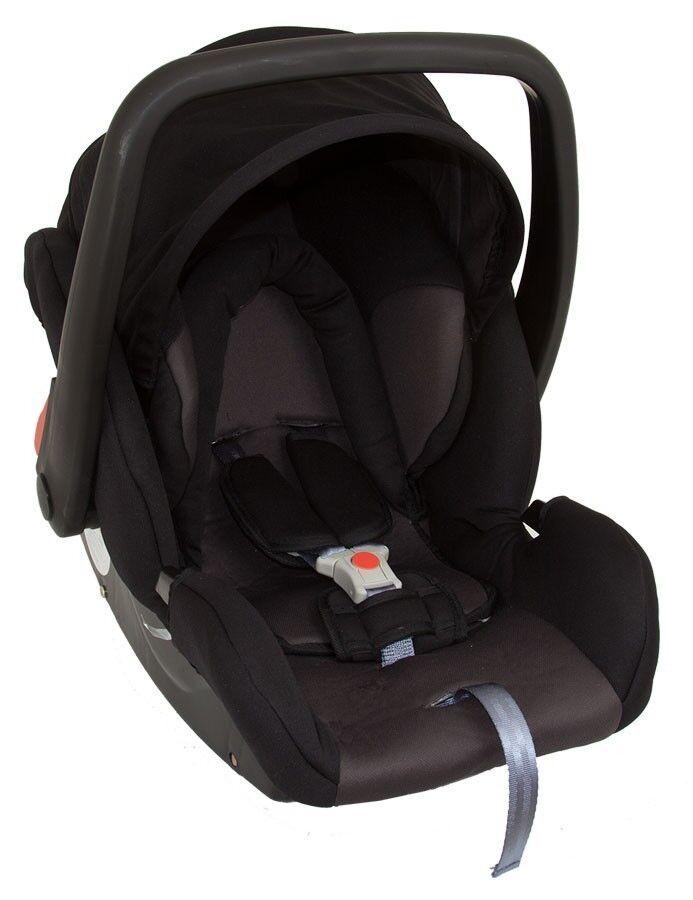 Babyschale Protect von UNITED-KIDS, KN Schwarz-Grau, Gruppe 0+, 0-13 kg