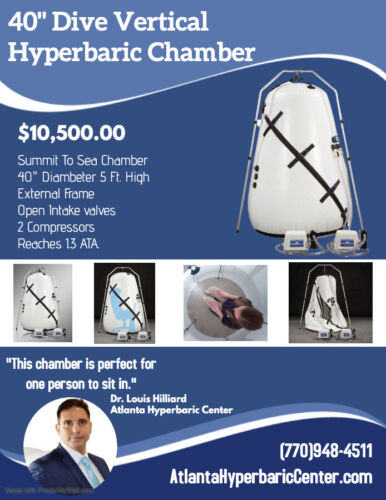 40 Inch Dive Vertical Mild Hyperbaric Chamber For Sale