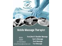 Mobile professional sports massage