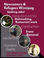 Refugees in Winnipeg Seeking Jobs