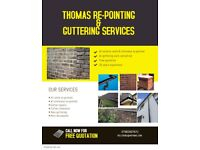 All re-pointing & guttering work