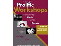 Performing Arts Workshops for youths and the young- dance, music and drama.