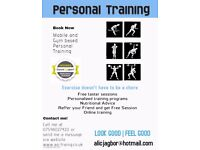 Outdoor and Indoor Personal Training Session