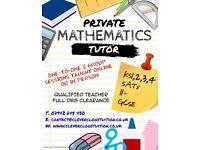 Private Personal Tutor - Qualified Maths Teacher | KS2-4 | 11+ | GCSE | SATs | Functional Skills