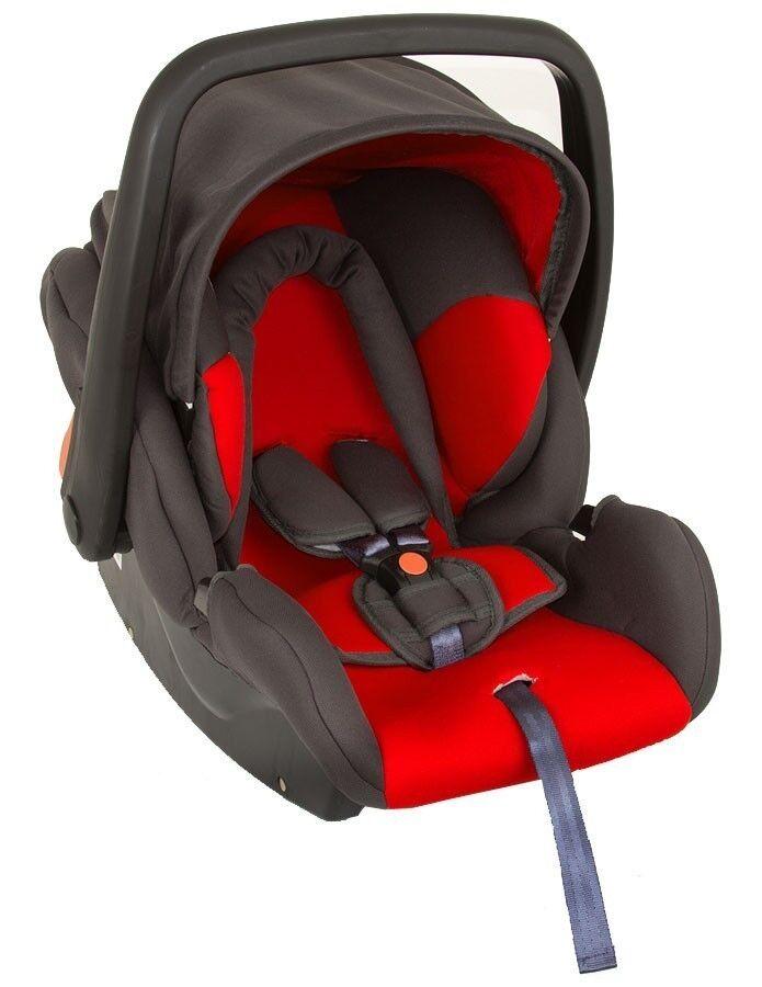 Babyschale Protect von UNITED-KIDS, KN Rot-Grau, Gruppe 0+, 0-13 kg