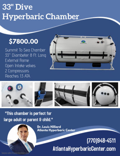"33"" Decompression Oxygen Exclusive Incredibly Bright Interior Hyperbaric Chamber"