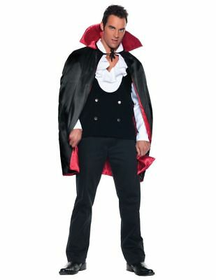 Halloween Costumes Rich Man (Satin Cape Deluxe Reversible 38 Inch Adult Costume Rich Red Lining)