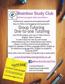 11+ and GCSE tutoring, groups and one-to-one @ Brainbox Study Club, Winslow, Buckinghamshire