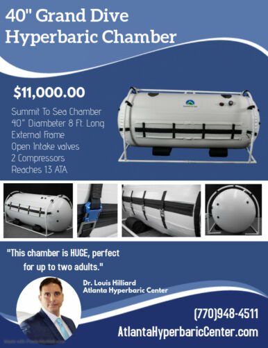 New 40 Inch Grand Dive Hyperbaric Chamber For Sale