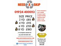SKIP HIRE 2 YARD,4 YARD, 6 YARD, 8 YARD, 10 YARD, 12 YARD, ROLL ON ROLL OFF ALSO AVAILABLE