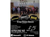 Group fitness classes. Personal training. Sports massage.